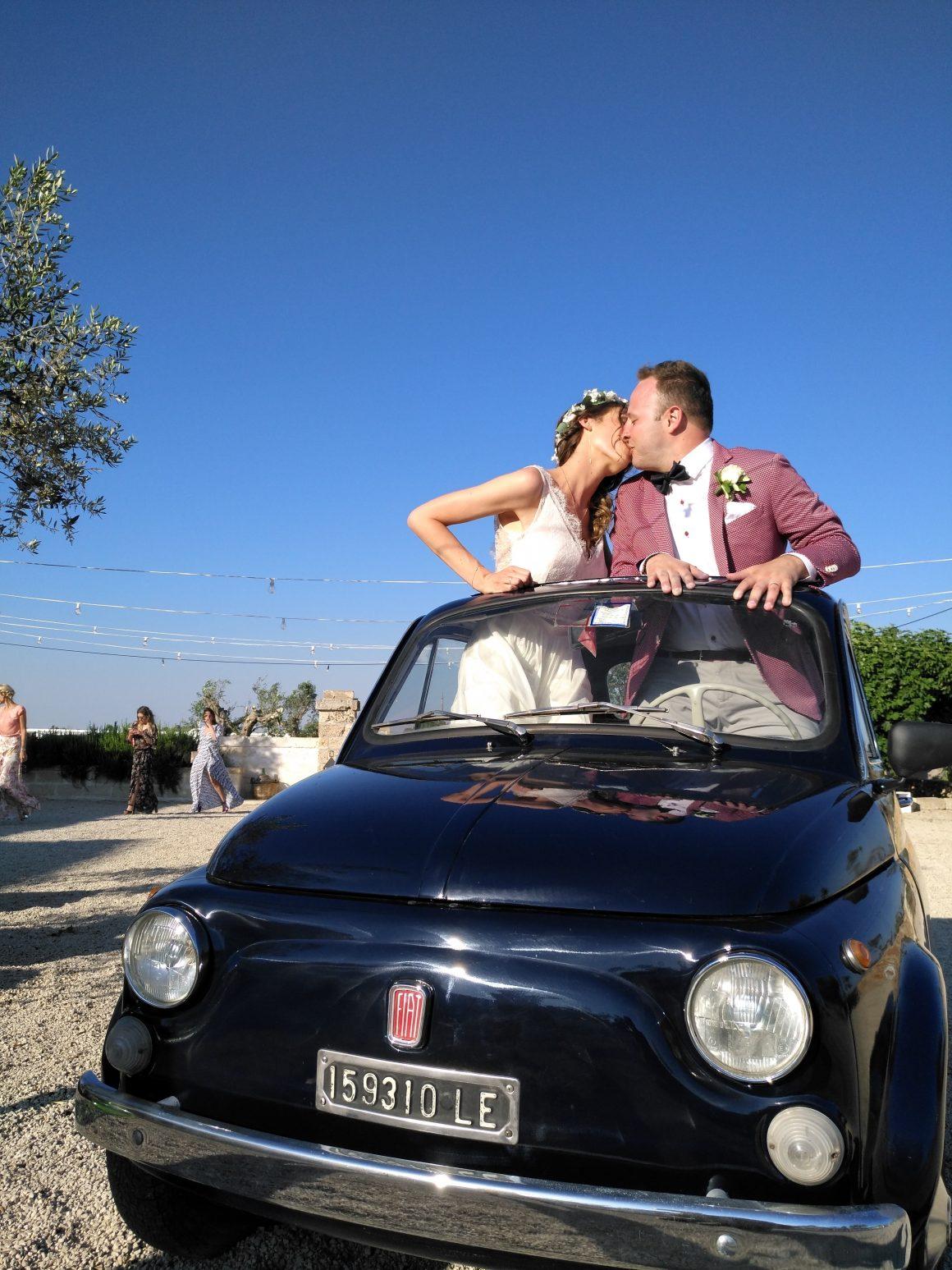 A Fiat500 for Vicky e Steve